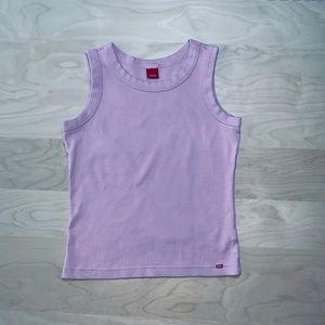 Esprit Pink Sleeveless Tank Crop Top Sz XS